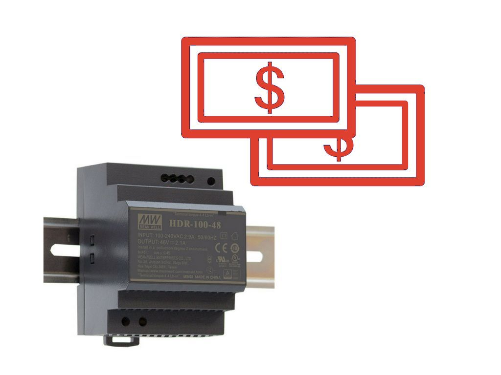 Low cost MEAN WELL power supplies